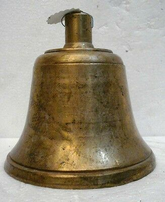 BRASS Bell - Marine / Religion / Spiritual - Height: 6.5 - Weight: 2.14 (1329)