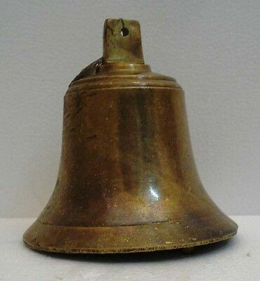 BRASS Bell - Marine / Religion / Spiritual - Height: 7.75 - Weight: 2.9 (1348)