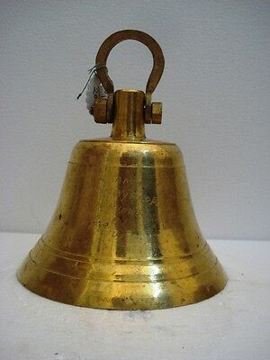 BRASS Bell - Marine / Religion / Spiritual - Height: 9 - Weight: 2.8 (1331)