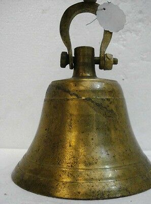 BRASS Bell - Marine / Religion / Spiritual - Height: 9 - Weight: 2.8 (1305)