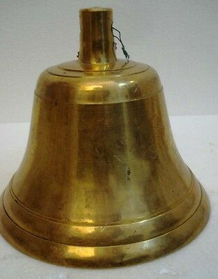 BRASS Bell - Marine / Religion / Spiritual - Height: 6.75 - Weight: 2.835 (1339)