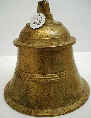 BRASS Bell - Marine / Religion / Spiritual - Height: 8.75 - Weight: 4.3 (1297)