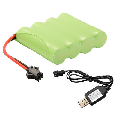 AA NI-MH 4.8V 2400mAh Battery Rechargeable +USB Charger Cable for Car Toys BC749