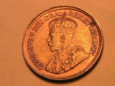 1919 Canada 5 Cents Ch AU Lustrous George V Five Cent Canadian Silver Coin