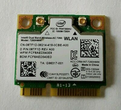 Intel Dual Band Wireless-AC 7260HMW 600Mbps WiFi+ Bluetooth4.0 802.11ac Card