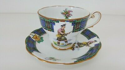 Royal Standard BONNIE SCOTLAND fine porcelain Cup / Saucer set CLAN MACDONALD
