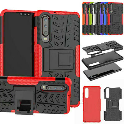 For Huawei P30 / P30 Pro Case Dual PC+Rubber Armour Shockproof Hard Stand Cover