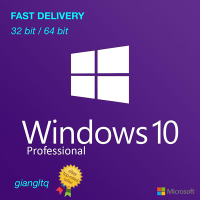 ✅ Microsoft Windows 10 Professional 32/64-bit Genuine License Key Product Code