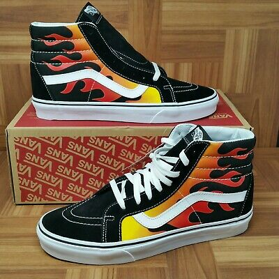 bb63c91730  NEW  Vans Authentic SK8 Hi Reissue Flame (Men s Size 10.5) Skate Sneakers