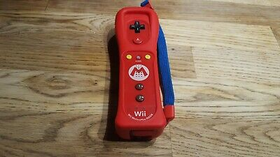 Wii + U Original Nintendo Remote Controller Motion Plus Inside Mario Limited Ed.