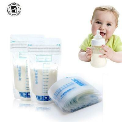30 Pcs Baby Breast Milk Food Freezing Storage Bags Safe Feeding Seal Pouch 250ml
