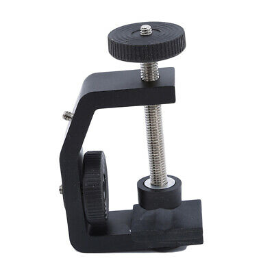 "Photo Studio U Clip Clamp 1/4"" Ball Head Bracket for Large Camera Light Stand LG"