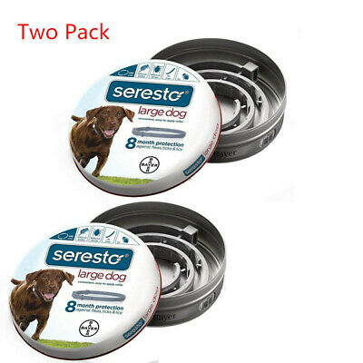 Bayer Seresto Flea and Tick Collar for Large Dog,8 Month Long Effect -Two Pack