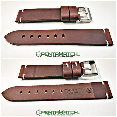 Cinturino Pelle Vintage made in italy marrone T.MORO Strap Leather OMEGA  brown