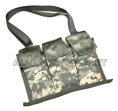 2 TWO US Military 6 Magazine ACU Bandoleer Pouch, MOLLE Mag Ammo Pouch NOS