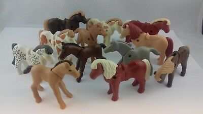 Lot animaux playmobil chevaux poulains poneys