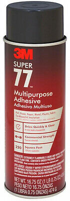 Spray Adhesive 16.75 oz Multi-Purpose Super 77 Dries Clear DIY Home Craft Supply