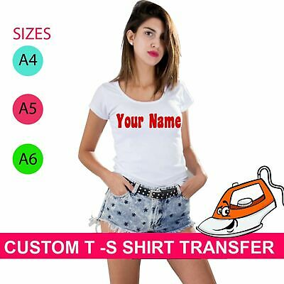 Your Name Personalized Hen Party Iron On Fabric Heat Transfer T Shirt Top Custom
