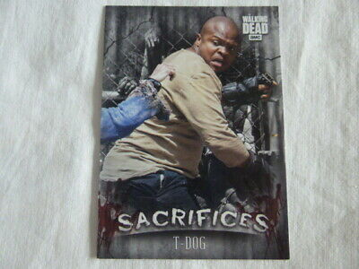 Walking Dead Hunters & The Hunted Sacrifices Card S-2 T-Dog Target Exclusive
