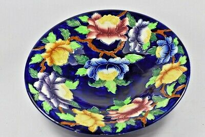 Large Maling Ware Floral Tube Lined Fruit Bowl
