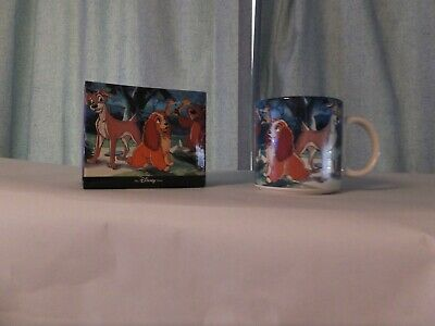Walt Disney LADY AND THE TRAMP Dog Ceramic Coffee Mug Cup Collectible Vintage