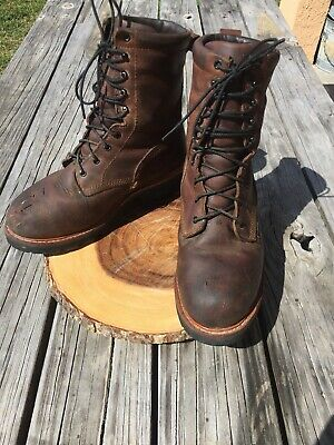 2efaa97ccd1 RED WING STEEL Toe Logger Boots - 4417 - Size 9 1/2 D - VGC Steel Toed  Vibram