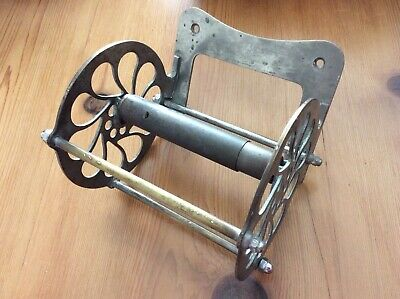 1880 Antique Nickel J.L. MOTT IRON WORKS Toilet Paper Holder, WAGON WHEEL SIGNED