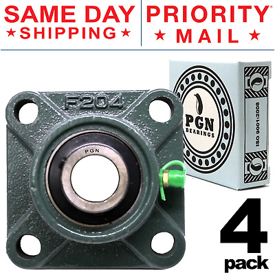 and 1//2 Bolt Size with Set Screw Collar Bearing 4 Bolt Flange UCF 204-12: 3//4 Inner Diameter I.D 151515