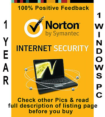 Norton Security Premium 2019 for 1 Year 1 PC Worldwide - Check Pics