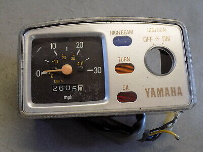 81 Yamaha LC 50 Champ Gauge Cluster Speedometer Also Fits QT50 ~FastFreeShip~A