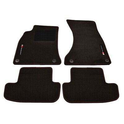 4 Tapis Sol Audi A5 8T 8F 10/2007-01/2017 Logo Performance Surpiqure Specifique