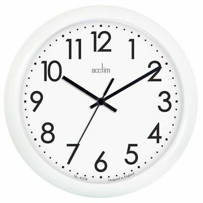 Acctim Abingdon Battery Operated Home Office School Quartz Wall Clock - White