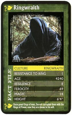 Ringwraith Lord Of The Rings Fellowship Of The Ring 2002 Top Trumps Card (C516)