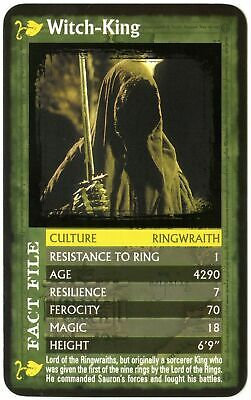 Witch-King  Lord Of The Rings Fellowship Of The Ring 2002 Top Trumps Card (C516)
