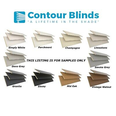 Tailor Made To Measure  Venetian Blinds Real Wood  35Mm 50Mm Samples Only