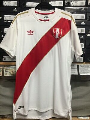 4421811b370 PERU NATIONAL UMBRO 2018 Home Jersey - White / Red - $49.50 | PicClick