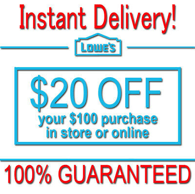 3x Lowes $10 OFF $50 INSTANT Discount Fastest DELIVERY-1COUPON INSTORE/ONLINE