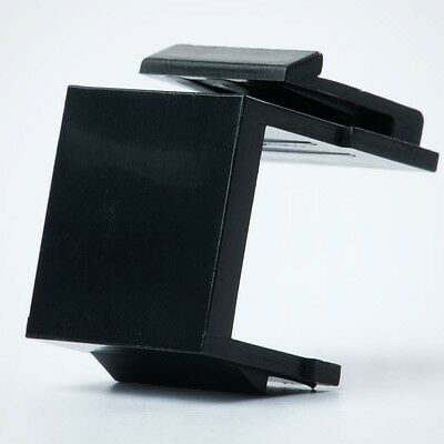 Lot10 Keystone BLANK Insert//Cover wall face plate//surface mount hole//jack${BLACK