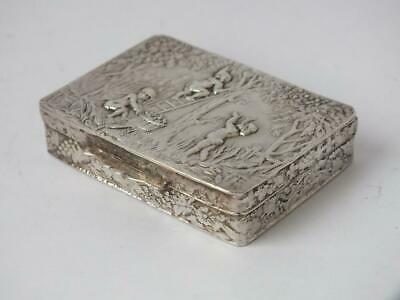 Pretty Solid Sterling Silver Box 1979/ L 5.2 cm