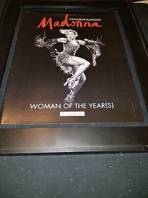 Madonna Woman Of The Years Rare Original Live Nation Promo Poster Ad Framed!