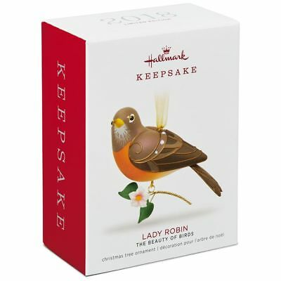 Hallmark 2018 Lady Robin Beauty of Birds Limited Quantity Ornament Mint in Box