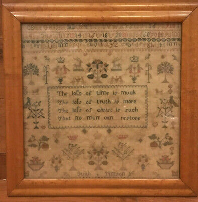 Georgian antique embroidery sampler by Sarah Timson