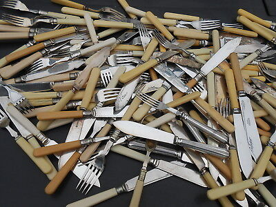 Bulk Quantity 276 Fish Eater & Serving Cutlery Silver Plated Etc Antique Vintage