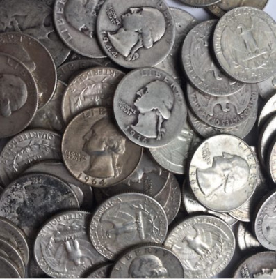 90% Silver Washington Quarters $1 Face Value 4 Coins Fast Shipping