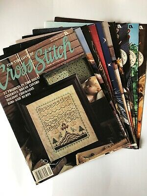 Lot of 10/For The Love Of Cross Stitch Magazines/Years 1991-1992