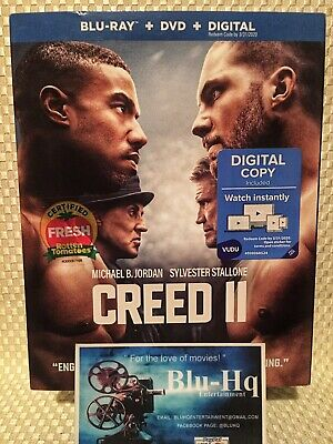 CREED II🥊(Blu-ray+DVD+Digital) Michael B. Jordan Sylvester Stallone(2018) NEW❗️