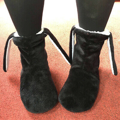 Ladies Slipper Boots Fleece Fur Lined Winter Warm Ankle Bootie House Shoes