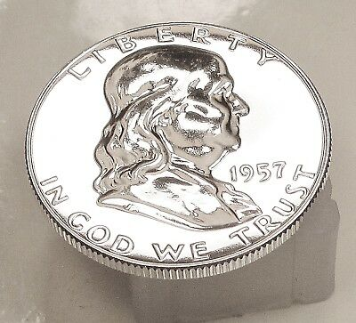 1957  Franklin   Choice  Proof   90%   Silver  >Coin  as  Pictured<  #1206  11