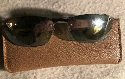 24f6545824 RAY BAN RB3156 SQUARE 003 Z1 60  16 HALF RIMLESS SUNGLASSES USED With