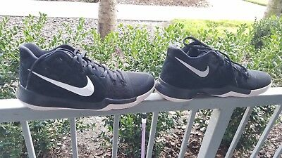 cd67e64ef1fc Nike Kyrie 3 Black Suede White Silt Red 852395-010 Basketball Mens Size 10.5
